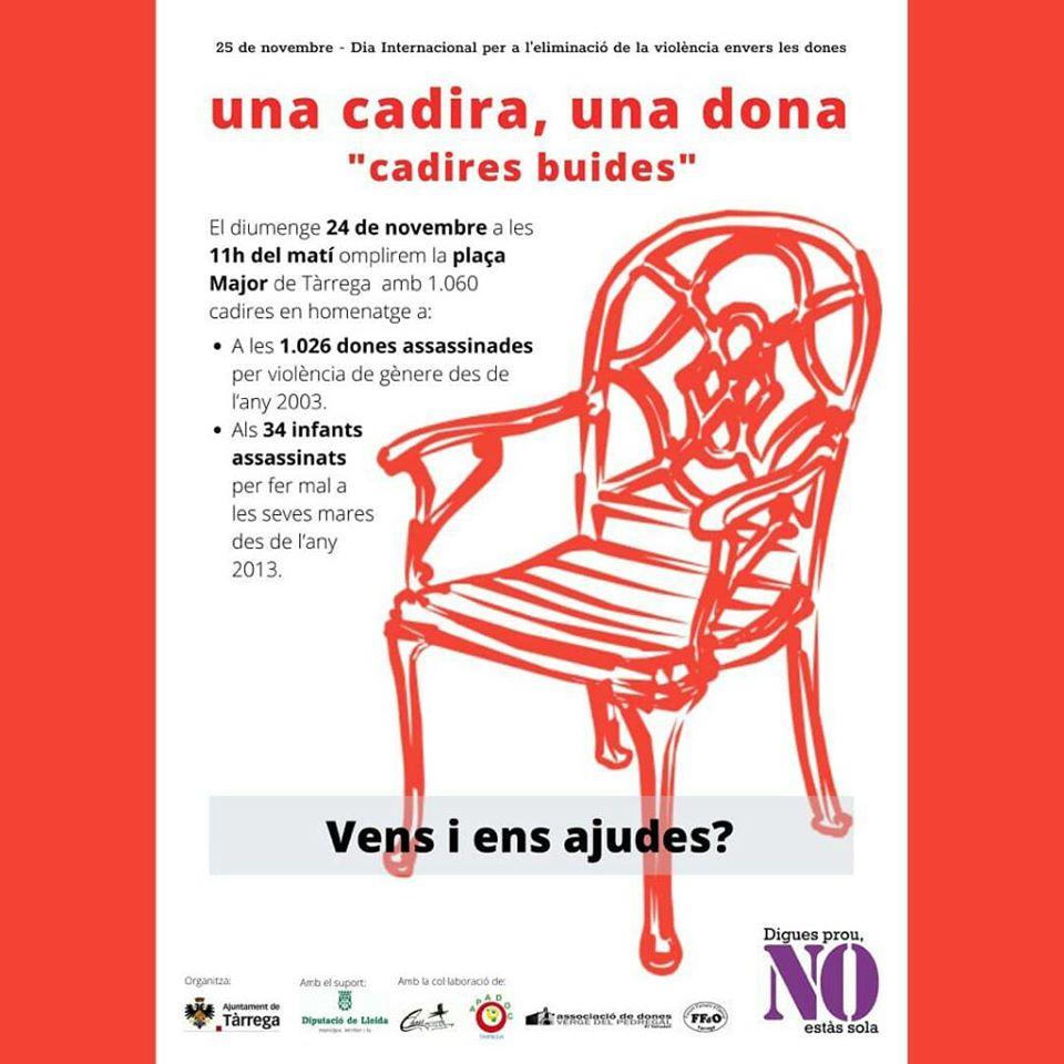 """una cadira, una dona """"cadires buides"""""""